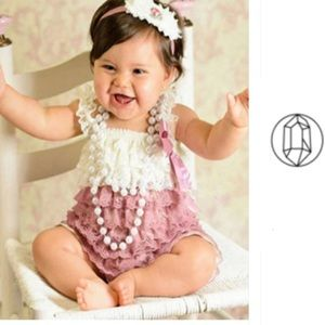 Other - 🎉Adorable Baby Girl Lace Romper 13-24months